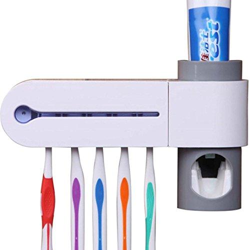 Glorrt Premium 3-in-1 Dental UV Ultraviolet Toothbrush Disinfection Sanitizer Sterilizer Cleaner Storage Holder Rack with AC Adapter