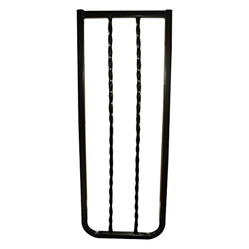 Cardinal Gates Extension for Wrought Iron Decor Gate, Black, 10.5