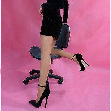 black Chaussures Pointu Talons LvYuan ggx synthétique Bout Talon Or amp; Noir Talons Soirée Aiguille Evénement Femme Laine CwAw75qa