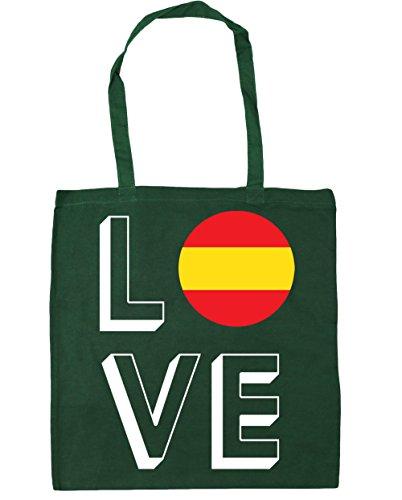 x38cm Green 42cm Bag Gym Shopping litres Tote HippoWarehouse 10 Spain Bottle Beach Love Yqqw708