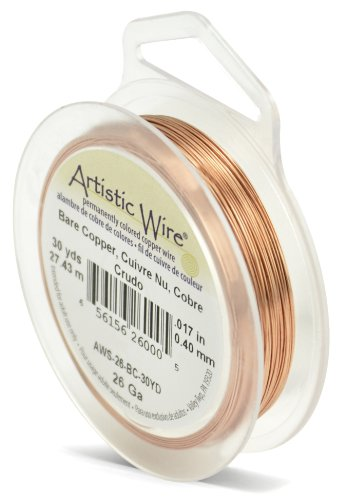 Artistic Wire 26-Gauge Bare Copper Wire, 30-Yards