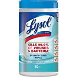 Lysol Disinfecting Wipes, Ocean Fresh, 160ct (2X80ct) (5 Pack (160 Count))