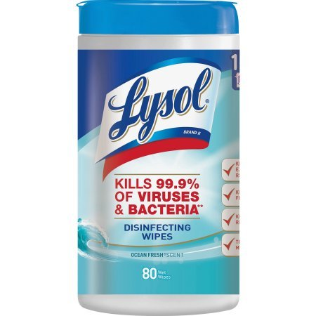 Lysol Disinfecting Wipes, Ocean Fresh, 160ct (2X80ct) (4 Pack (160 Count)) by Lysol