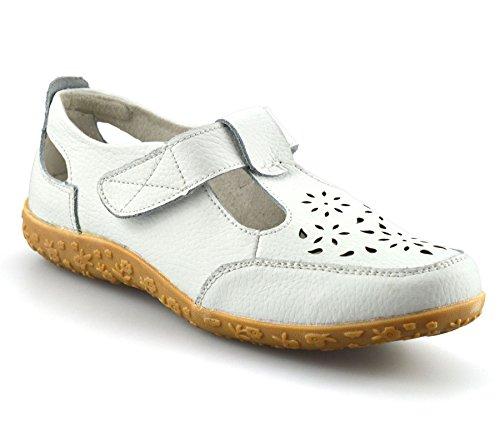 Womens Wide Schuhe Damen Work Komfort Casual Weiß Pumps Damart Leder Walking Fit Flache A5XwSq
