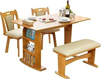 9e1bca2f2a93e9 木製 伸長式ダイニングテーブルセット 木製テーブル 回転チェア フェルン (ナチュラル)