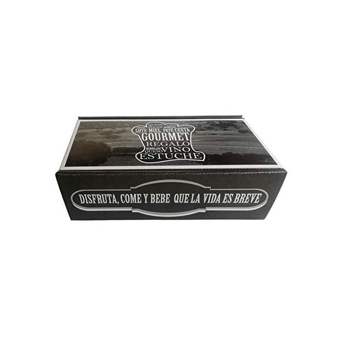 41cDrf8uDpL Productos gourmet Extremadura Se presenta en caja de cartón negra, con una frase a ambos lados del estuche (ojo, frase no personalizable) vino tinto de 37.5 cl (Cristal)