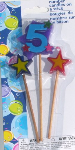 Number Birthday Cake Candles / Toppers / Decorations
