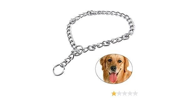 65cm Collar de Perro Choke Collar de Perro de Mascota con Enlace 4.0mm UEETEK Cuello de Cadena Extra Pesado para Perro