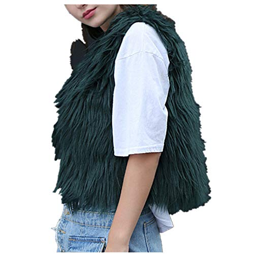 - Ugood Artificial Coat Jacket Winter Parka Outerwear Womens Ladies (Size XL, Green)