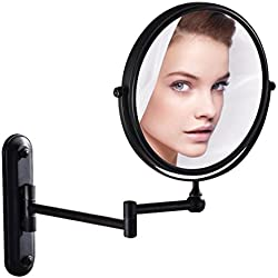 GURUN Wall Mounted Mirror Double Sided With 10X Magnification,Oil-Rubbed Bronze,M1207O(8in,10x Magnification)