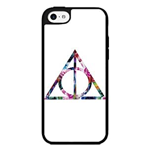 """Diy iPhone 6 plus Hipster Floral Print Sign of the """"Deathly Hallows"""
