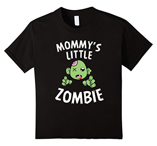 Kids Funny Mommy's Little Zombie Halloween Costume T-shirt 4 Black