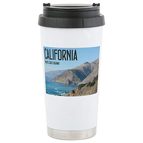 CafePress California Pacific Coas Stainless Steel Travel Mug Stainless Steel Travel Mug, Insulated 16 oz. Coffee ()