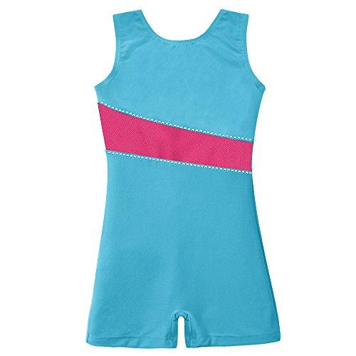 Girls Leotards for Gymnastics Dance Velvet Blue Biketard Shiny Hot Pink 3t 4t (Biketard Velvet)