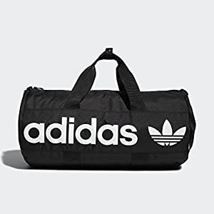 adidas Originals Paneled Roll Duffel Bag, Black, One Size 26