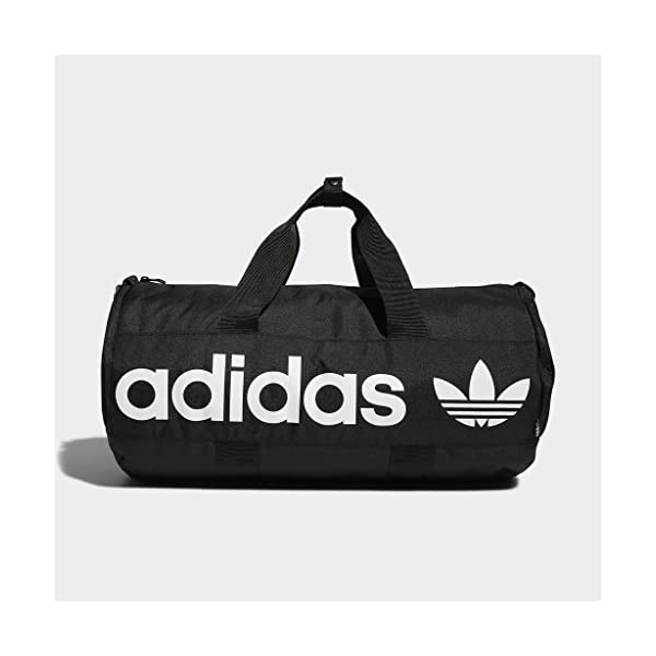 adidas Originals Paneled Roll Duffel Bag, Black, One Size 14