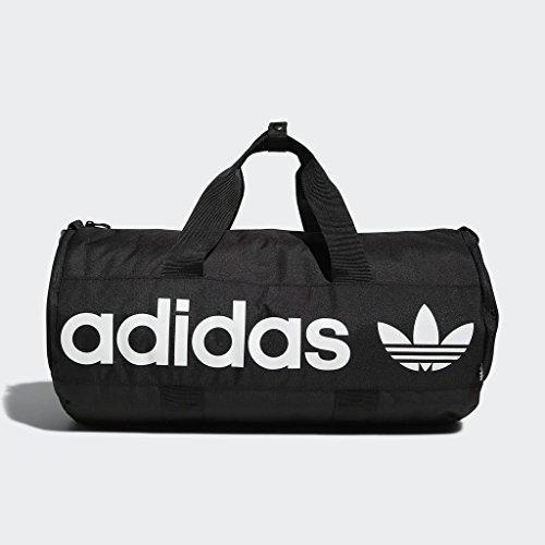 adidas Originals Paneled Roll Duffel Bag, Black, One Size