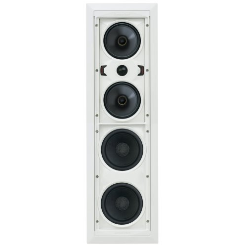 SpeakerCraft AIM Cinema One Pivoting In-wall Cinema Speaker - Each (White) by SpeakerCraft