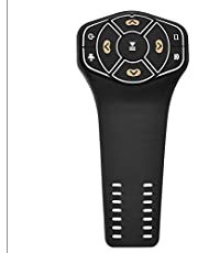 Universal Bluetooth Media Button, Watchband Style 9 Buttons LED Indicator Remote Controller for Steering Wheel