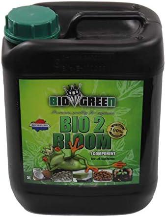 Fertilizante BIO 2 BLOOM Especial para Cultivos de Cannabis y Marihuana. Mejora su Crecimiento y Floración. No Sulfurada. Producto CE. 5 Litros
