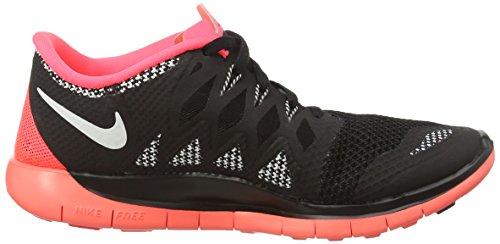 Nike Free 5.0 (GS) - Zapatillas Para Niñas negro - Schwarz (Black/White-Hyper Punch-White 005)