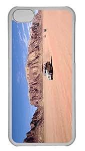 Customized iphone 5C PC Transparent Case - Desert Safari Personalized Cover