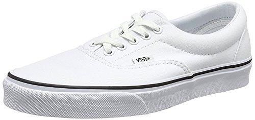 (Vans Unisex Era Skate Shoe True White 4.5 D(M) US)