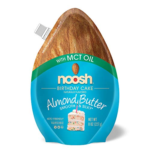 - NOOSH Keto Almond Butter (Birthday, 8 Fl. Oz) - All Natural, Vegan, Gluten Free, Soy Free - Ketogenic and Low Carb Friendly