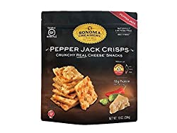 Sonoma Creamery Cheese Crisps - Pepper Jack, Savory Cheese Cracker Snack, High Protein, Low Carb, Gluten Free, Wheat Free (10 Ounce)