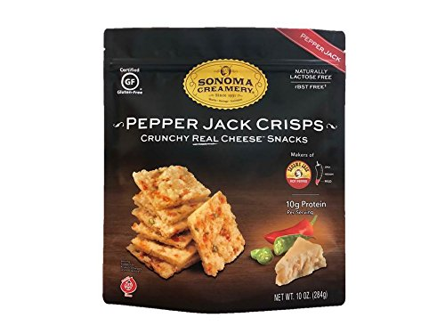 (Sonoma Creamery Cheese Crisps - Pepper Jack Savory Cheese Cracker Snack High Protein Low Carb Gluten Free Wheat Free (10 Ounce))