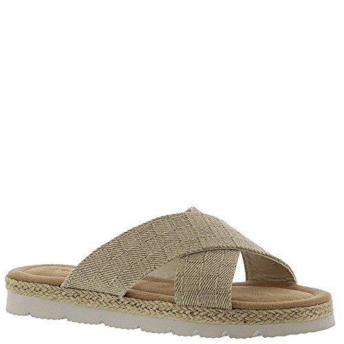 (BEARPAW New Women's Evelyn Slide Sandal Natural 8 )