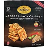 Sonoma Creamery Cheese Crisps - Pepper Jack Savory Cheese Cracker Snack High Protein Low Carb Gluten Free Wheat Free (10 Ounce)