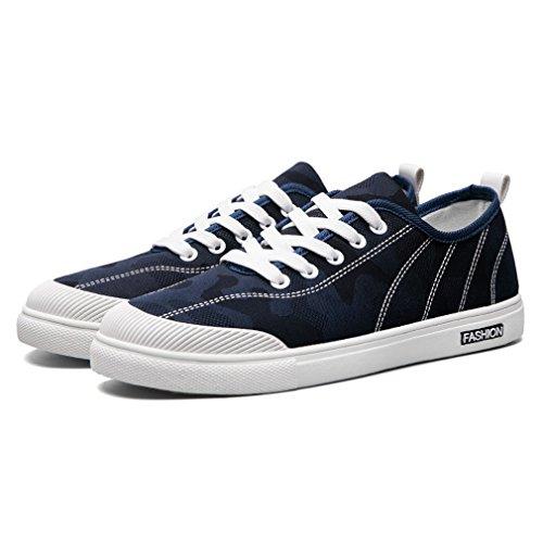Simple Canvas Shoes Men Shoes Breathable Cloth Shoes Fashion Casual Shoes(8 D(M)US,blue)