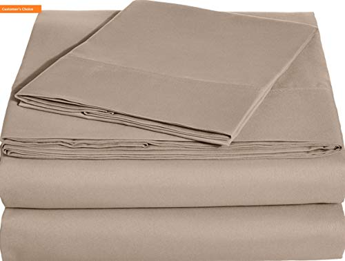 Mikash New Soft Microfiber Sheet Set - Twin, Taupe, 4-Pack | Style -