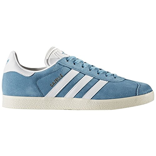 Gazelle in Steel Blue/Gold Metallic by Adidas, 8 by adidas Originals