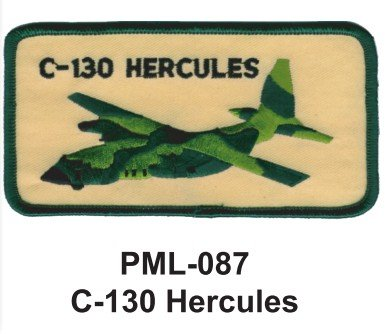 4'' Embroidered Millitary Large Patch C-130 Hercules - C 130 Patch