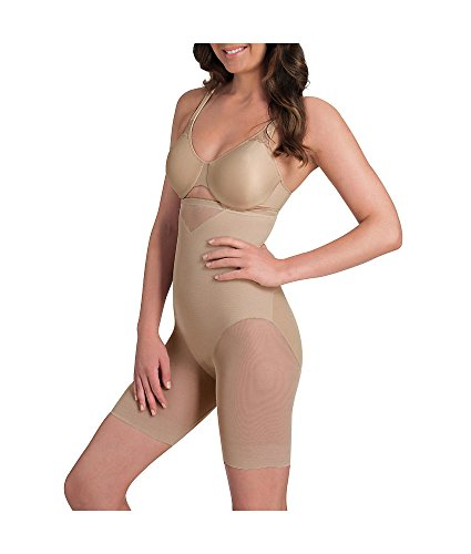 Miraclesuit Shapewear Women's Extra Firm Sexy Sheer Shaping Hi-Waist Thigh Slimmer Nude Small