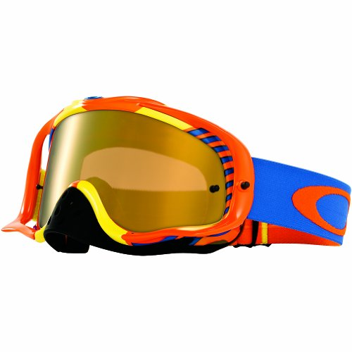 o Hazard Goggles with Orange/Blue Print Frame (White Frame/Fire Iridium Lens) ()