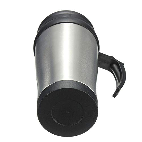 Coffee Saucer Bond (Stainless Steel Car Mug Travel Tumbler Water Coffee Tea Cup 450ml Silver+black,As Shown)