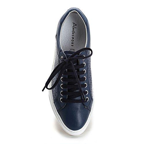 amp;Scarpe in Alesya con Scarpe Blue Pelle Sport Sneakers laserature EyEr4pqU