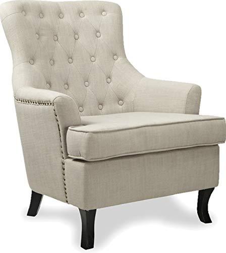 Dormitorio Vintage sillón tradicional Wing silla de espalda ...