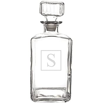 Cathy's Concepts Personalized Whiskey Decanter, Letter S