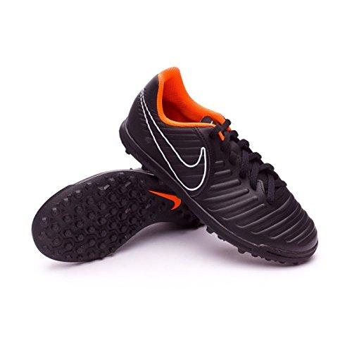 Botas De Futbol Nike Tiempo X Legend Negra/Naranja Suela Turf Niño Negro
