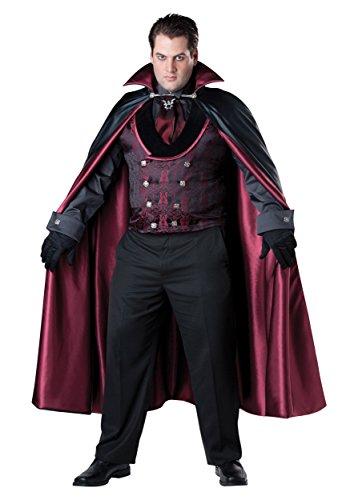 InCharacter Costumes Men's Plus-Size Midnight Vampire Costume, Black/Red, XX-Large -