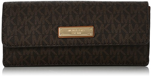 MICHAEL Michael Kors Signature Flat Wallet, Color Brown