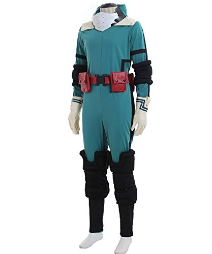 My Hero Academia Midoriya Izuku Jumpsuit Cosplay Costume Outfit Unisex Battle Suit Uniforms Halloween M (Uniform Jumpsuit)