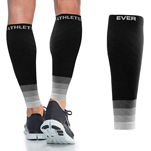 Ever Athlete Ombré Compression Calf Sleeves Black/Grey (The Best Athlete Ever)