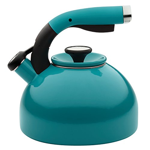 whistling tea kettle turquoise - 3