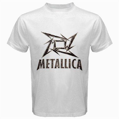 Amazon.com: Metallica Ninja Logo New White T-shirt Funny ...