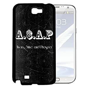 Always Strive and Prosper A$AP Quote Black and White Rap Music Hard Snap on Cell Phone Case Cover Samsung Galaxy Note 2 N7100